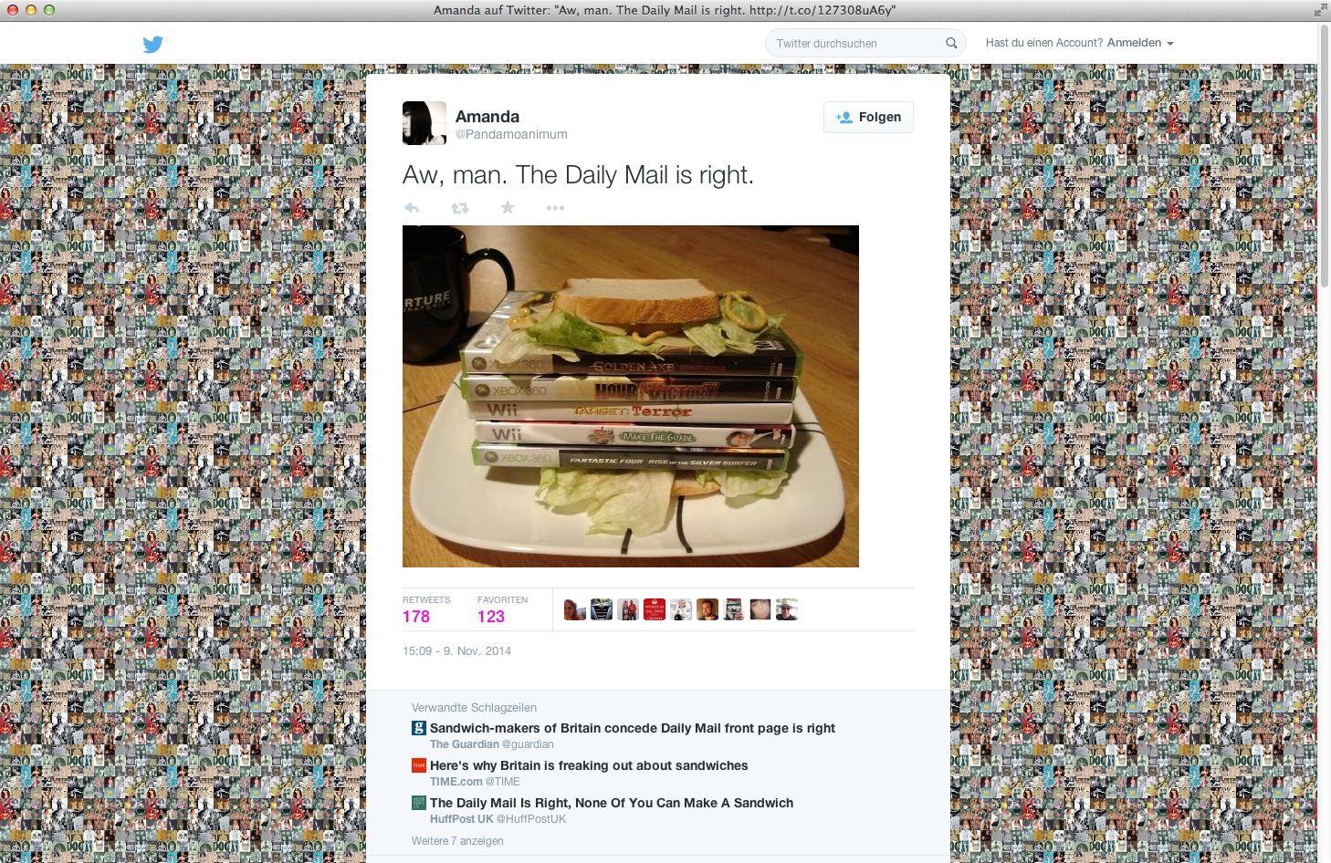 NUR ALS ZITAT Twitter/ Sandwich