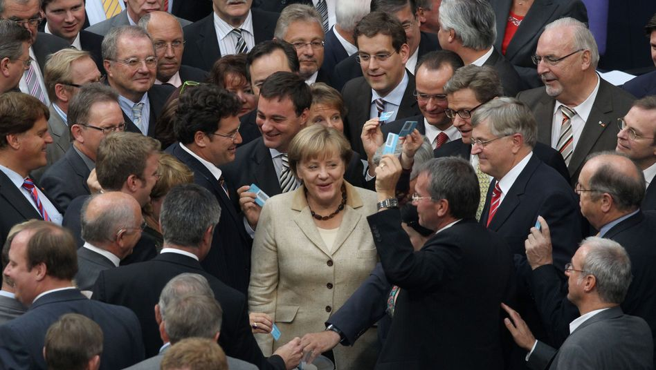 German Chancellor Angela Merkel during the parliamentary vote on the expansion of the euro bailout fund on Sept. 29.