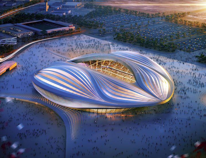 Entwurf für das WM-Stadion in Katar