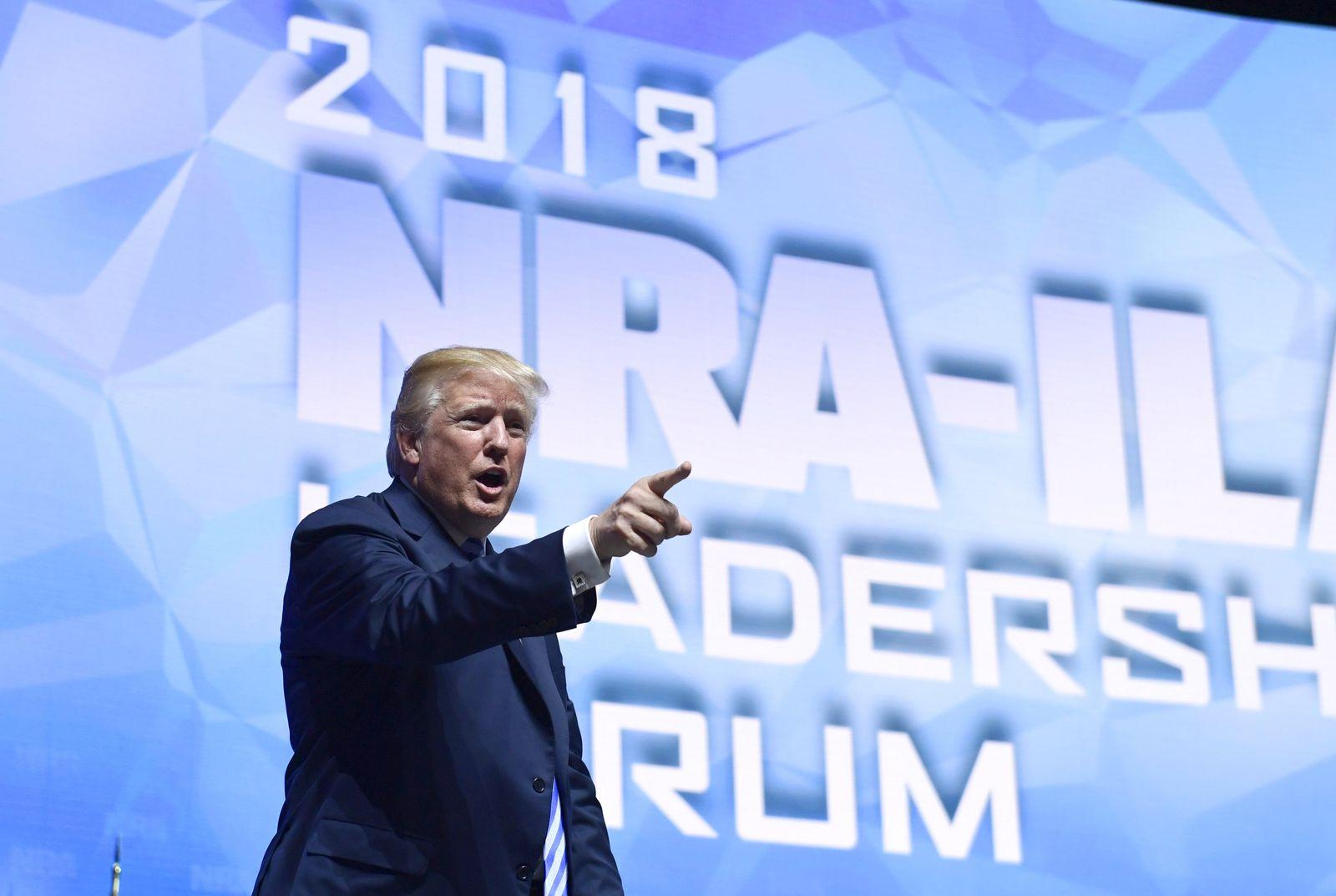NRA-Jahrestagung in Dallas - Donald Trump