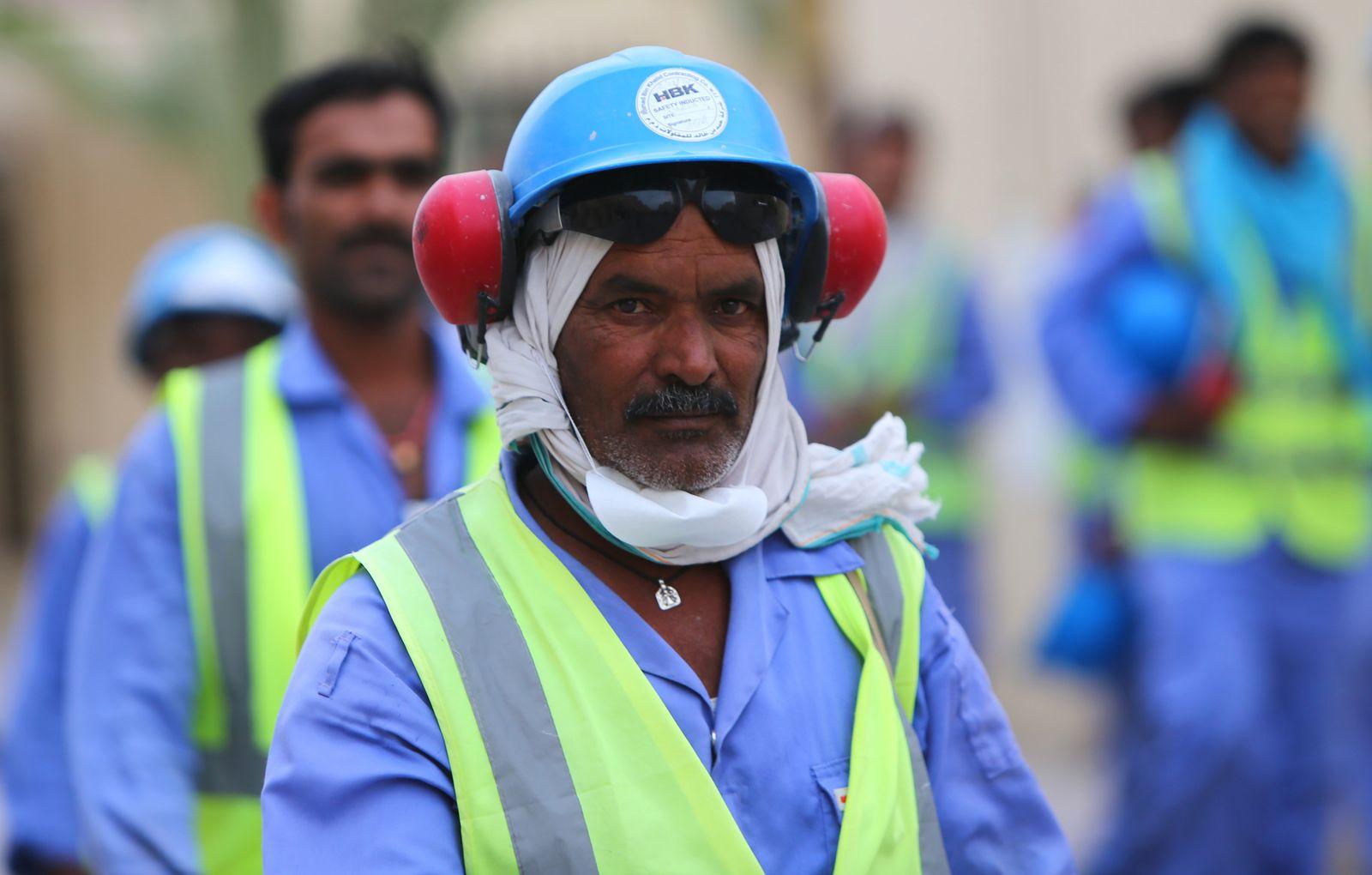 Katar/ Arbeiter/ Baustelle