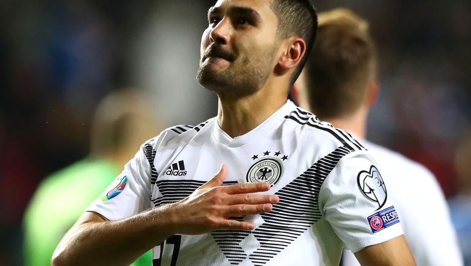 Ilkay Gündogan erzielte gegen Estland zwei Tore und bereitete einen weiteren Treffer vor