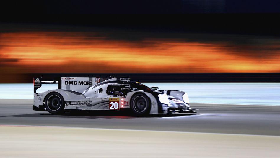 Porsche-Pilot Webber beim Rennen in Bahrain: Unfall in São Paulo