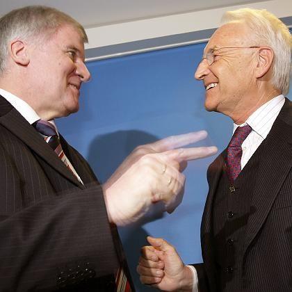 CSU-Chef Stoiber und einer der Bewerber um seine Nachfolge, Parteivize Seehofer: Einvernehmliche Lösung binnen drei Wochen