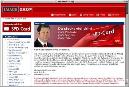 """Imageshop der SPD: """"Halbdistanz zum Produkt"""""""