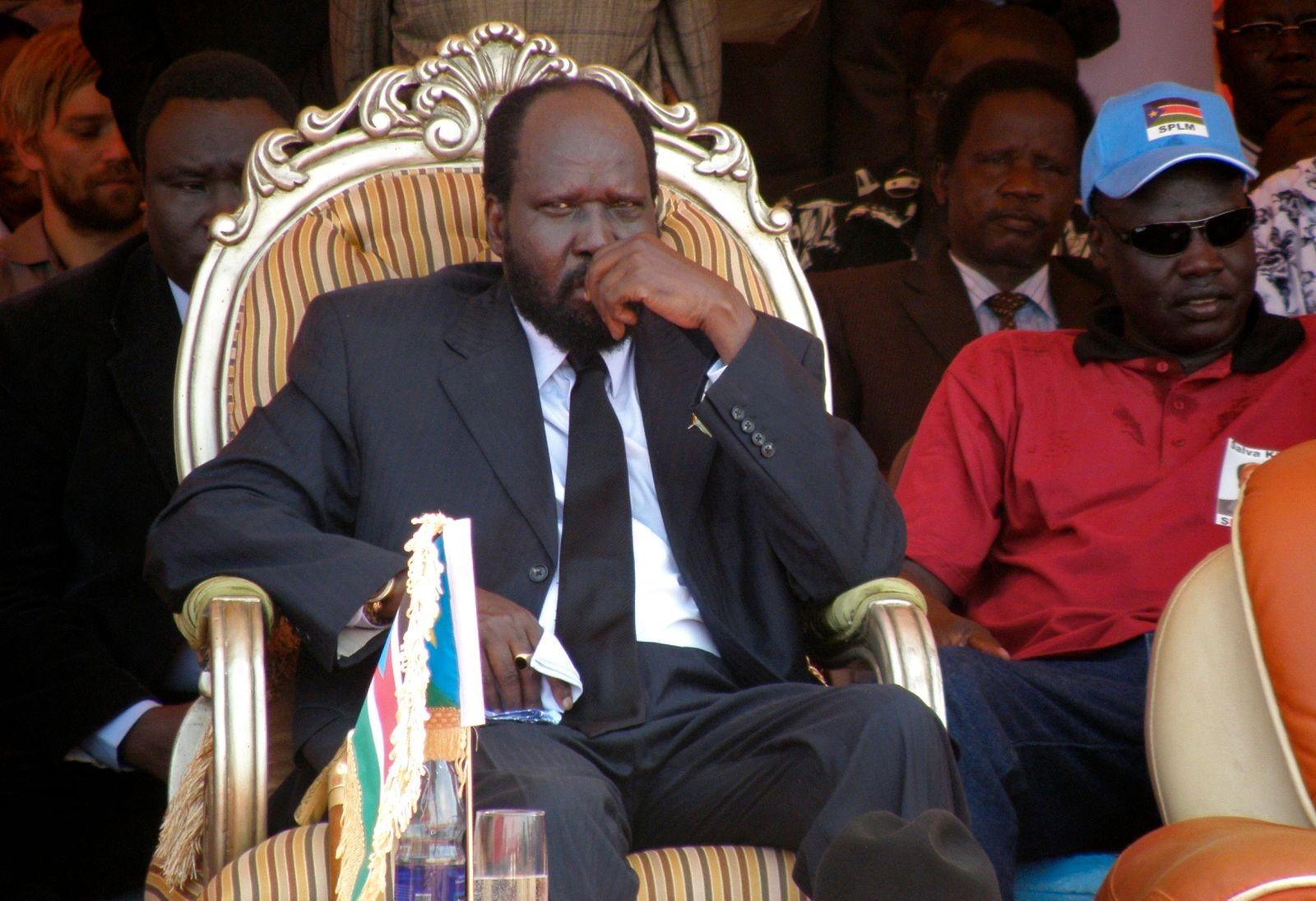 Sudan's Vice President Kiir attends the launch of his campaign in Juba