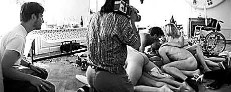 """Regisseur Trier (l.): """"Durch die Handkamera raubt man den Darstellern die Kontrolle"""""""