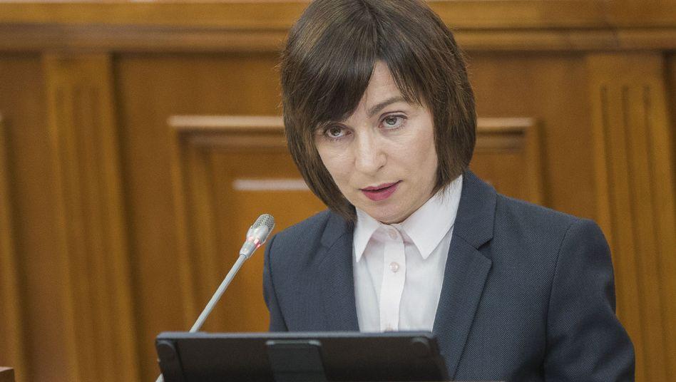 """Premierministerin Maia Sandu: """"Die Diebe im Parlament hatten Angst vor unseren Reformen"""""""