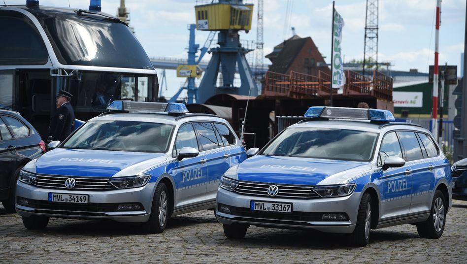 Polizeiwagen in Stralsund, Mecklenburg-Vorpommern