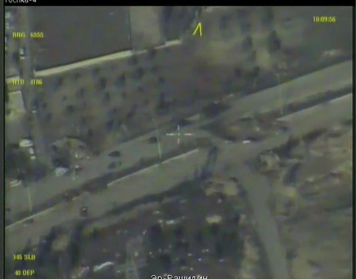 Russische Drohne zeigt Livebilder, offenbar aus Ost-Aleppo