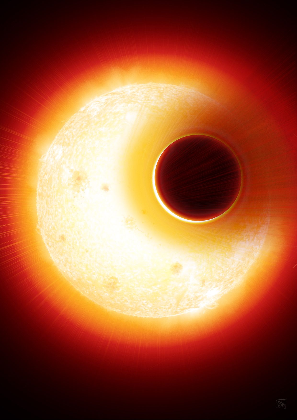 EINMALIGE VERWENDUNG Helium Exoplanet