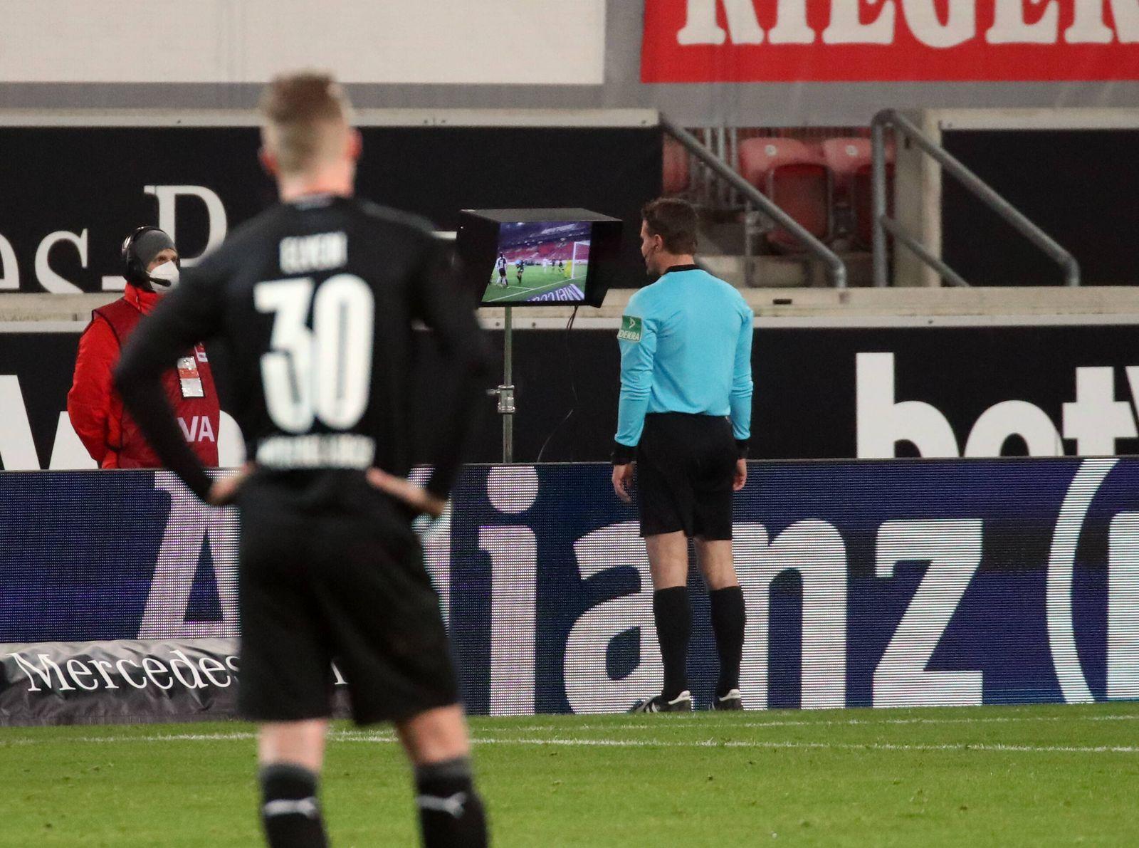 16.01.21 VfB Stuttgart - Borussia Mönchengladbach Deutschland, Stuttgart, 16.01.2021, Fussball, Bundesliga, Saison 2020
