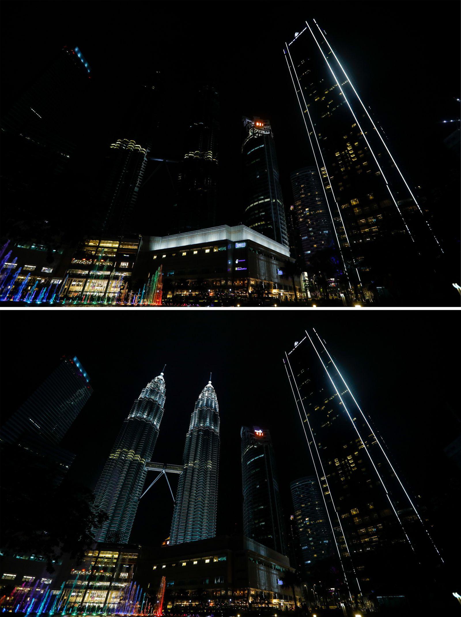 Earth Hour in Kuala Lumpur, Malaysia
