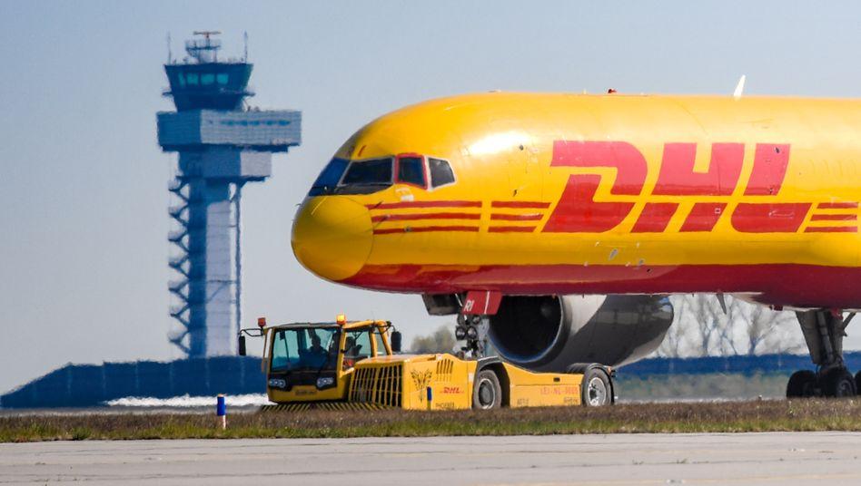 DHL-Frachtflugzeug auf dem Flughafen Leipzig/Halle: »Wir sind gut aufgestellt.«