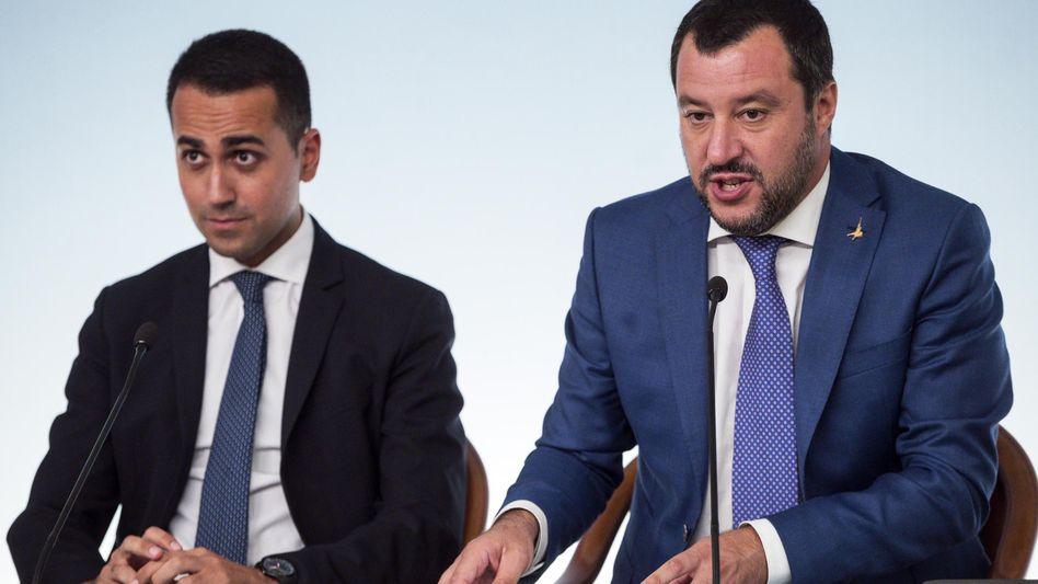 Vizekanzler Luigi Di Maio (links) und Matteo Salvini