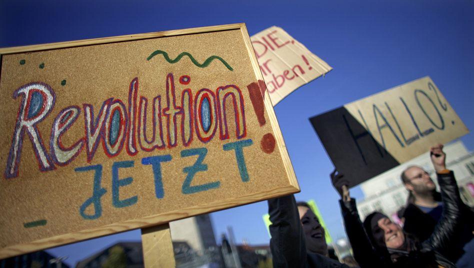 Protest in Frankfurt: Triumph der Träumer