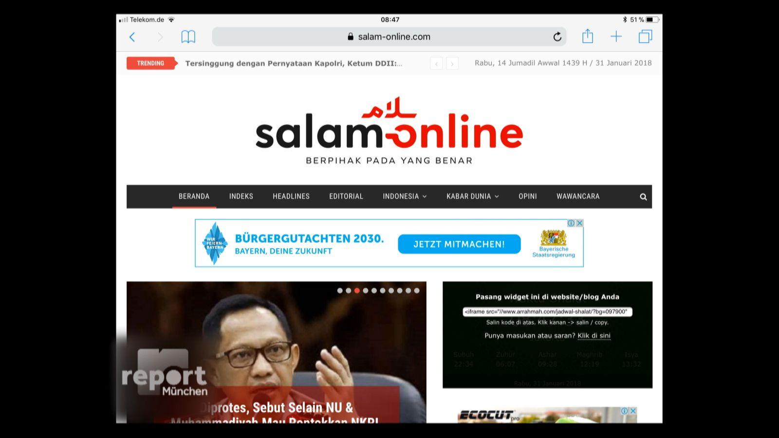 NUR ALS ZITAT Screenshot Anzeigen Islamistisch Google/ Sperrfrist 13.02.2018, 11h