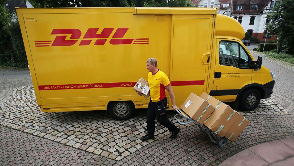 Zeitfenster von 60 bis 90 Minuten: Paketzusteller der Deutschen Post DHL