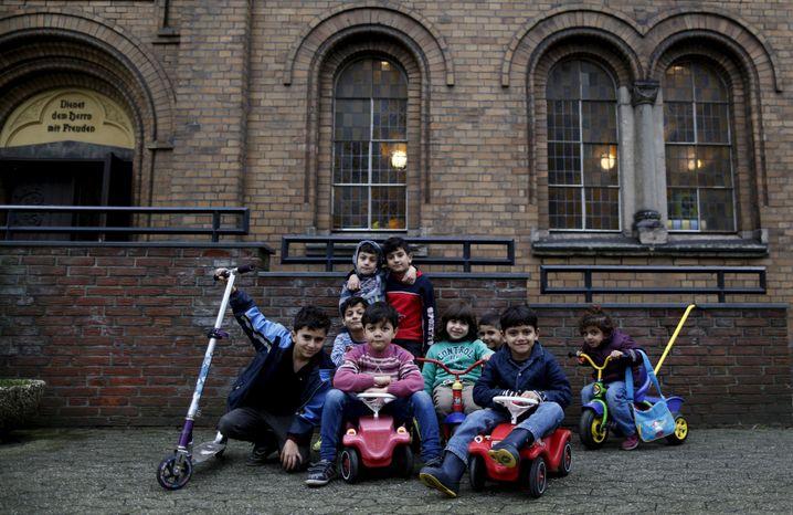 Syrische Kinder in Oberhausen im November 2015