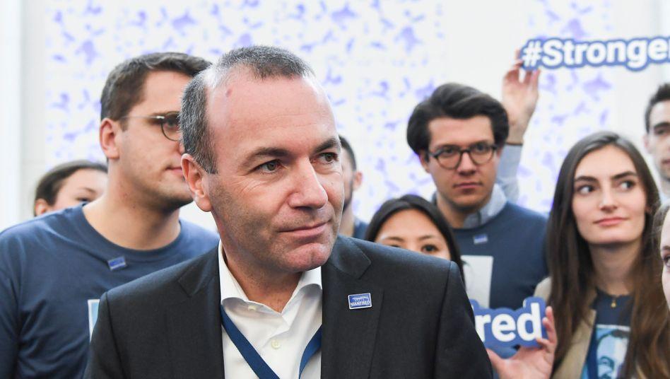 CSU-Politiker Weber beim EVP-Parteitag in Helsinki