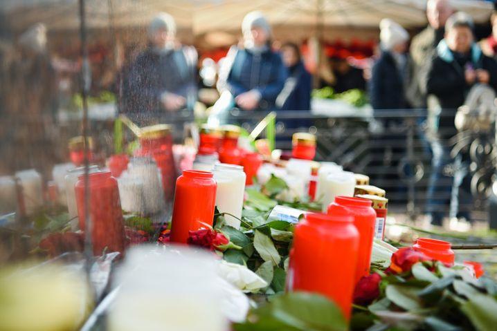 Trauer nach dem Terrorakt in Hanau