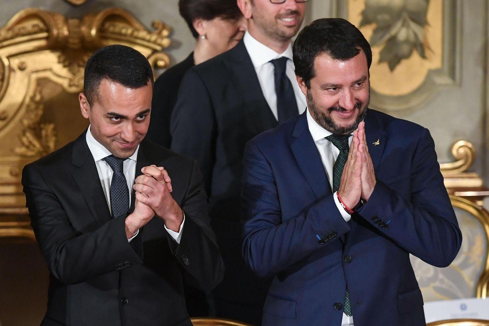 Regierungsvereidigung/ Italien/ Di Maio/ Salvini