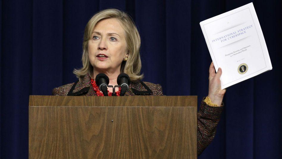 US-Außenministerin Hillary Clinton: Standards für die Abwehr von Internetangriffen