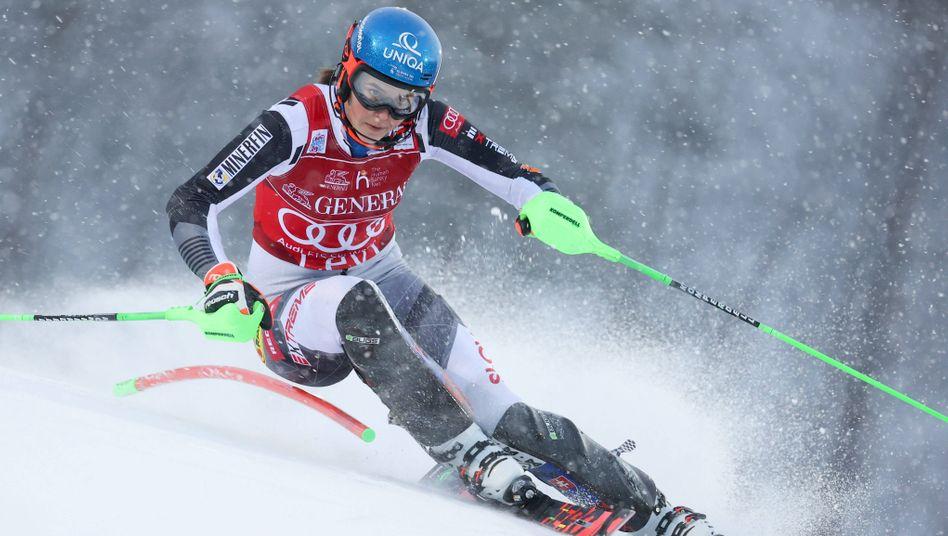 Petra Vlhova kann ihren 16. Weltcupsieg feiern