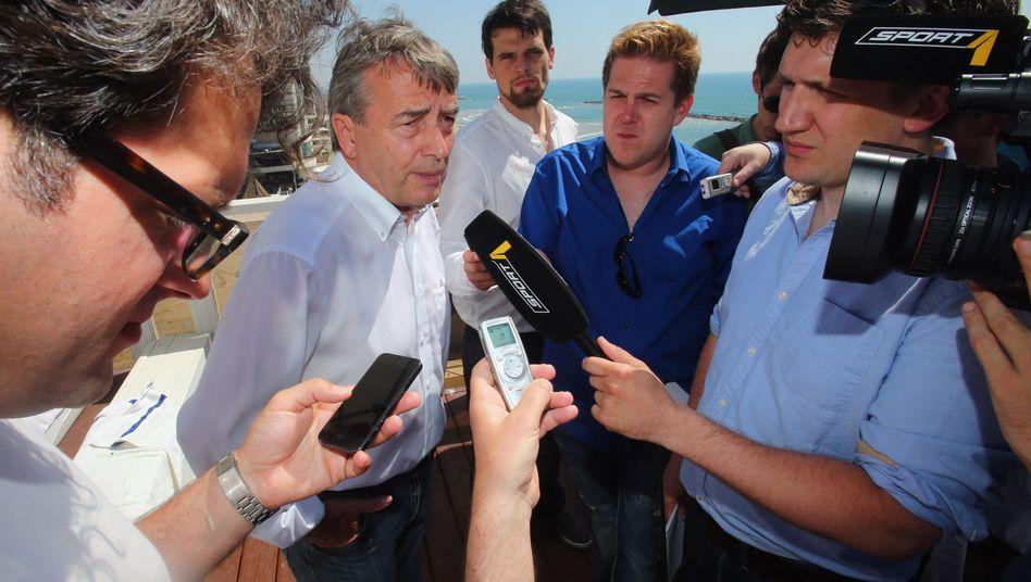 DFB-Präsident Niersbach in Israel: Streit mit der DFL