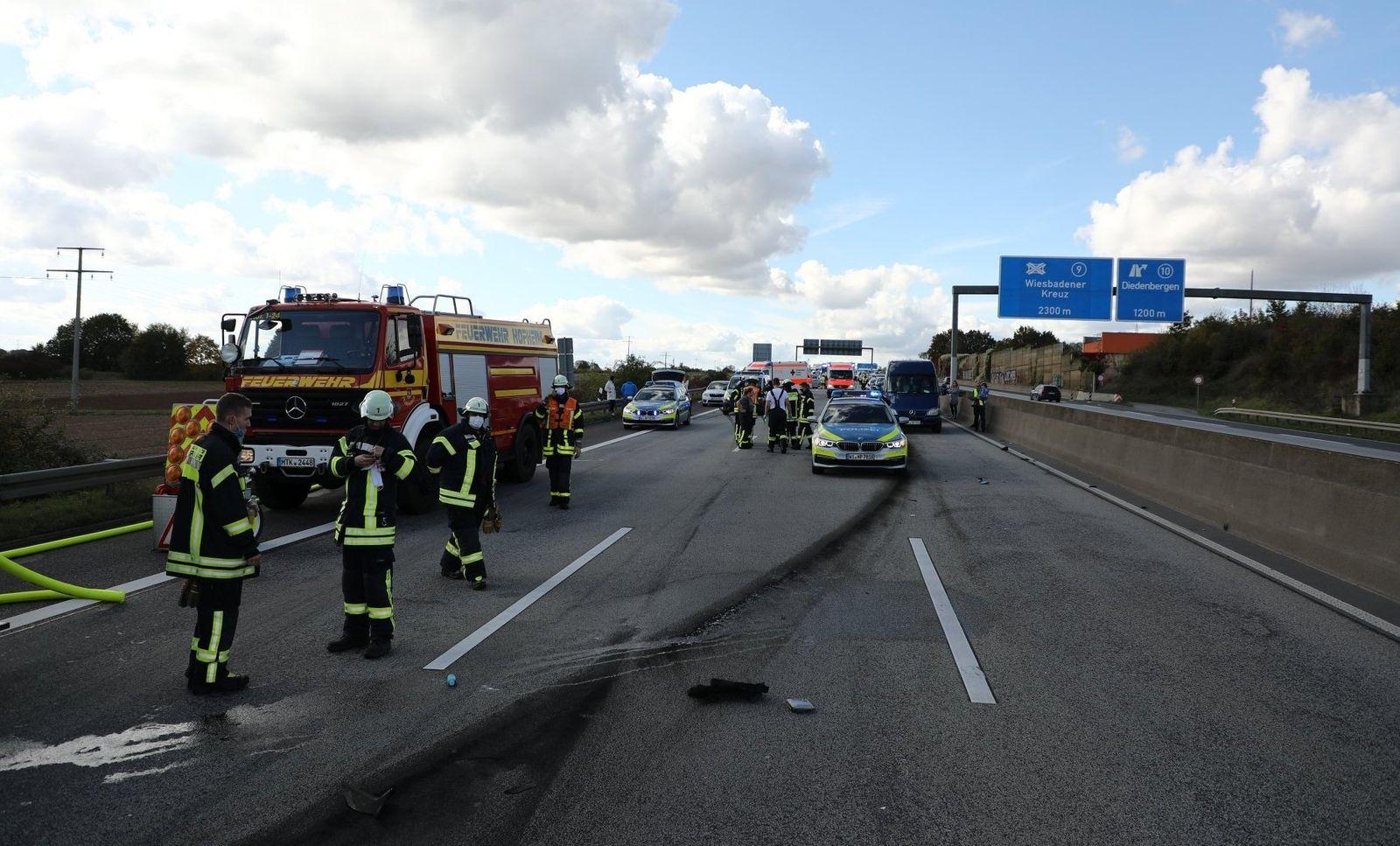 Unfall auf Autobahn A66