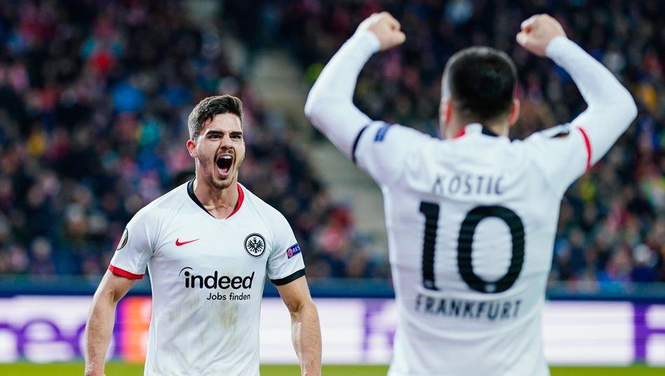 Europa League: Eintracht zieht mit einem Tag Verspätung ins Achtelfinale ein