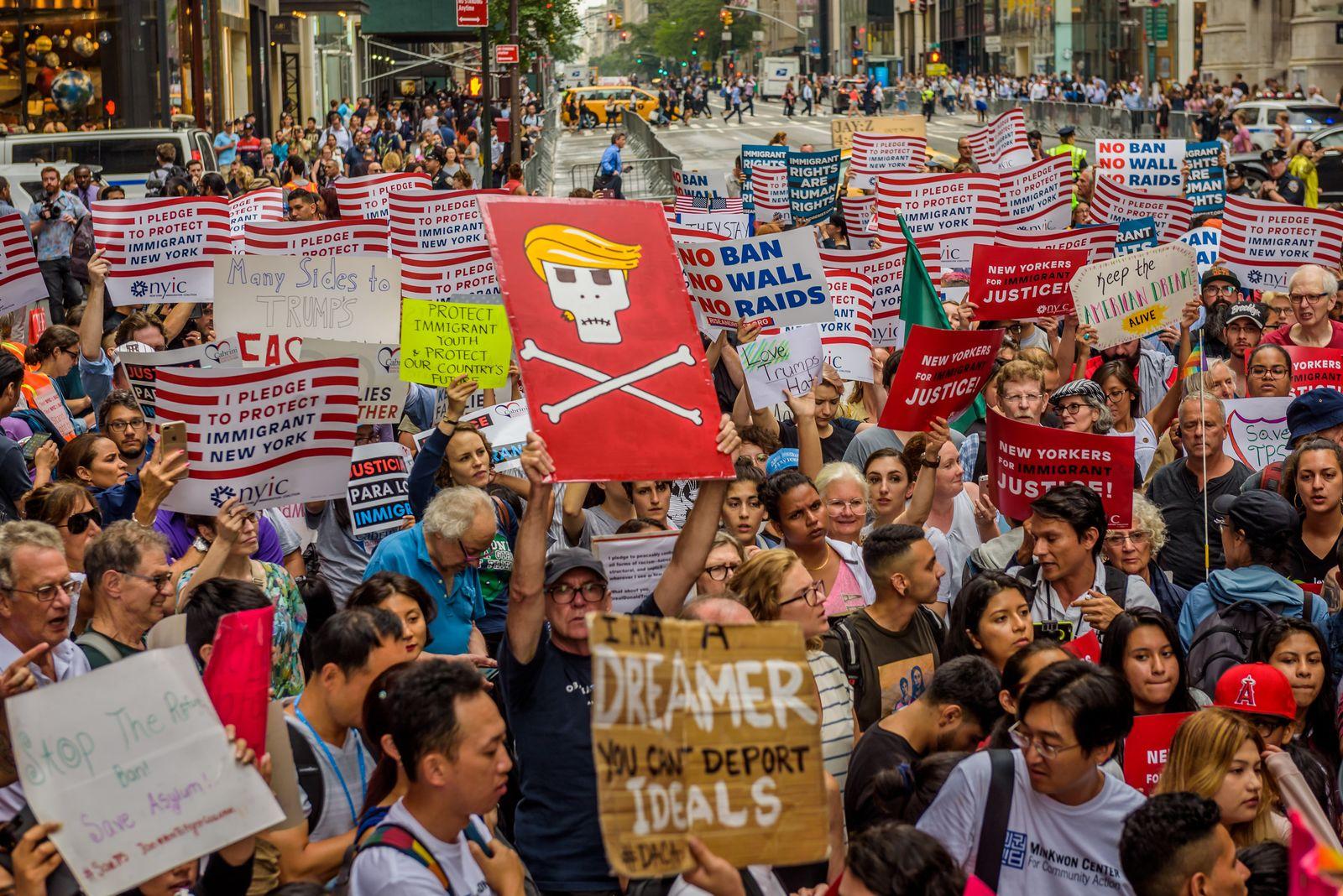 Versprechen/ Dreamer/ Anti-Trump Demonstration/ New York