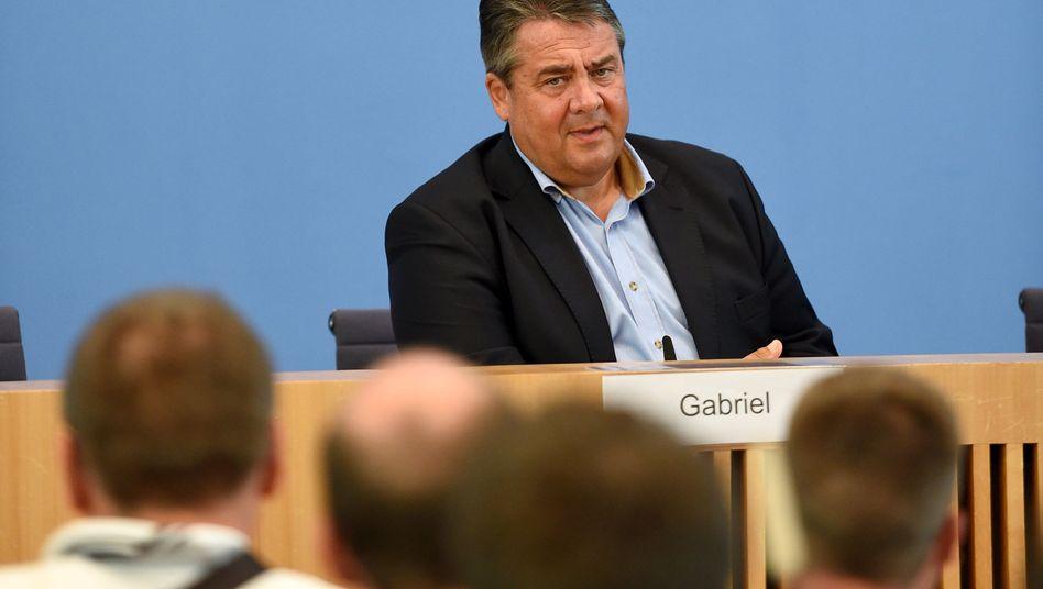 Sigmar Gabriel bei Bürger-Pressekonferenz