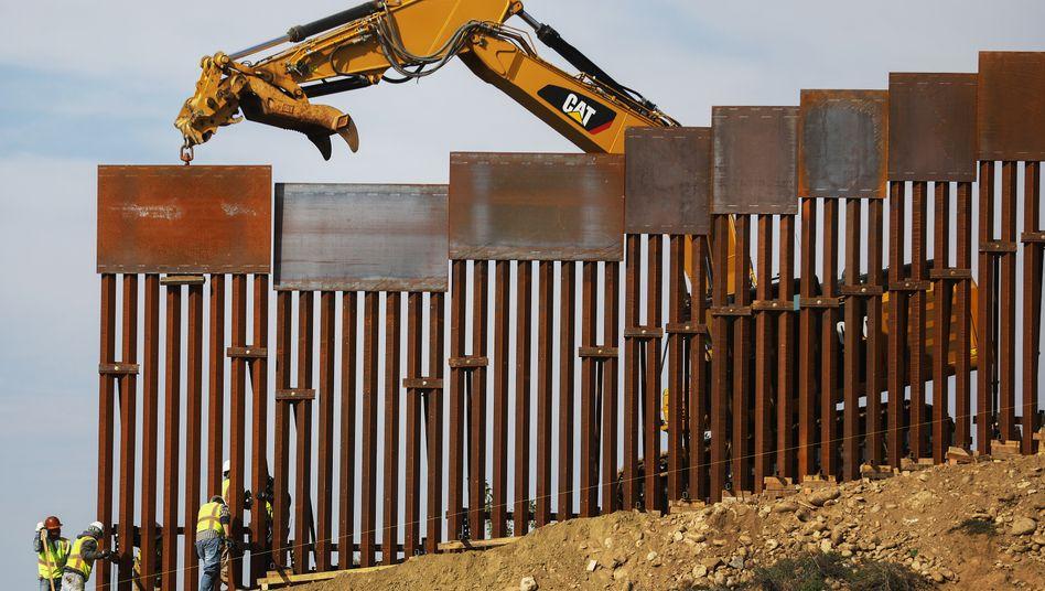 Bauarbeiten an Trumps Grenzwall zu Mexiko (Archivbild)