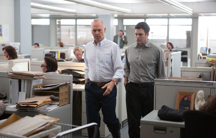 """Michael Keaton (links) und Mark Ruffalo im Journalistendrama """"Spotlight"""""""