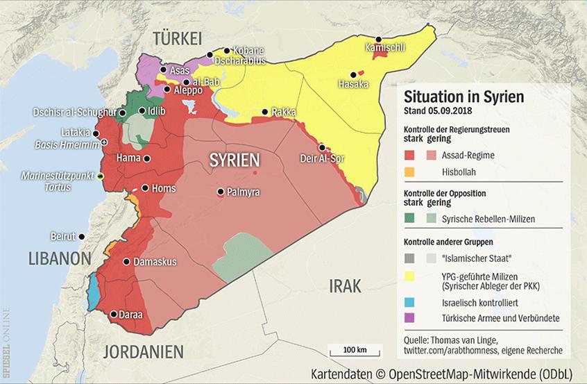 Grafik Karte Syrien - 1036991 - Nur für Endlich Verständlich