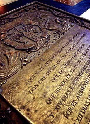 Grabplatte für Kolumbus in Sevilla: Nur 15 Prozent stammen vom Endecker