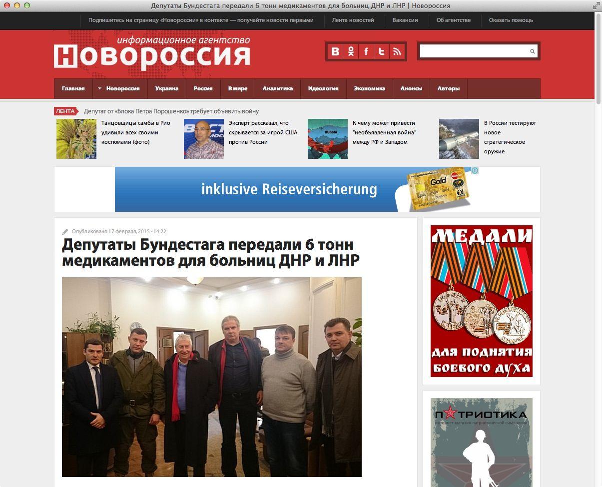 NUR ALS ZITAT Screenshot Linke / Separatisten-Site