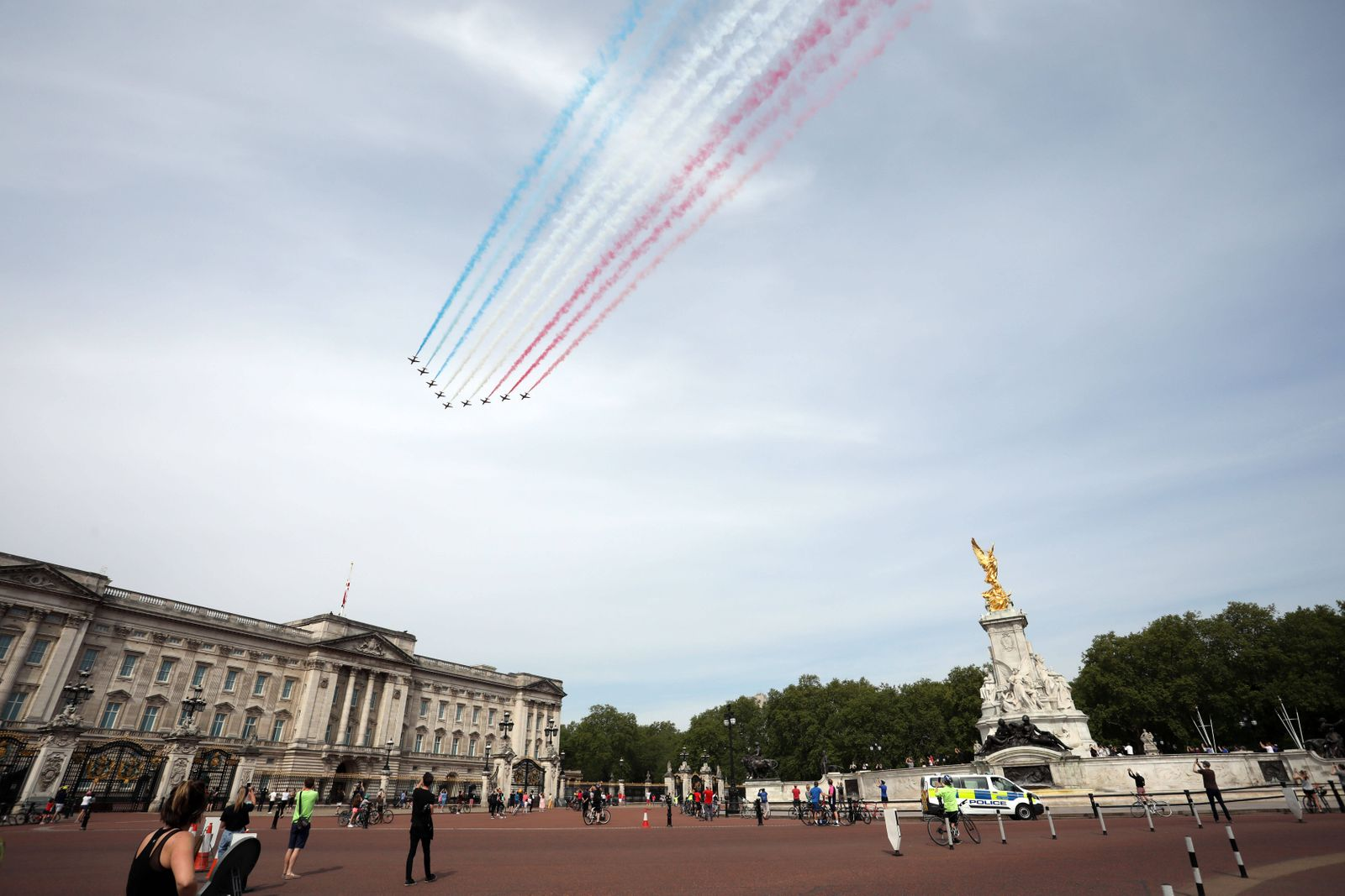 Day Forty Six of Lockdown, in London, which coincides with the 75th Anniversary celebrations of VE Day. The Red Arrows f