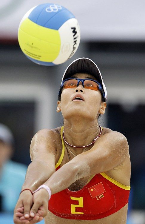 Chinese beach volleyball player Tian Jia.