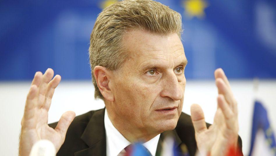 """EU-Energiekommissar Oettinger: 40-Prozent-Sparziel """"nicht allzu realistisch"""""""