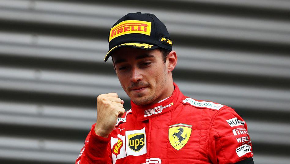 Charles Leclerc fuhr schneller als sein Teamkollege Sebastian Vettel - und wurde von Ferrari dafür belohnt