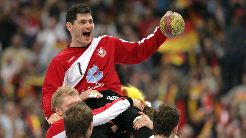 Henning Fritz nach dem WM-Sieg 2007