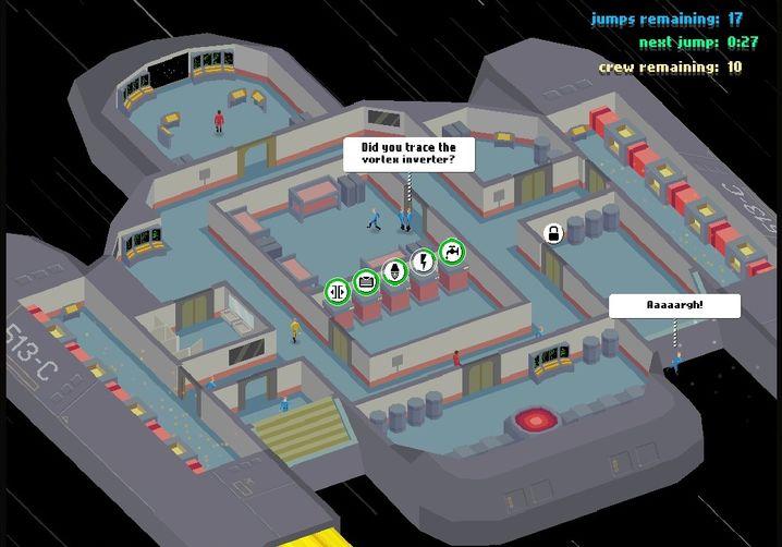 """Eigensinniges Raumschiff: Screenshot aus """"Computer, Open That Door!"""""""