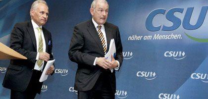 """CSU-Chef Huber, Ministerpräsident Beckstein: """"Keine Flucht aus der Verantwortung"""""""