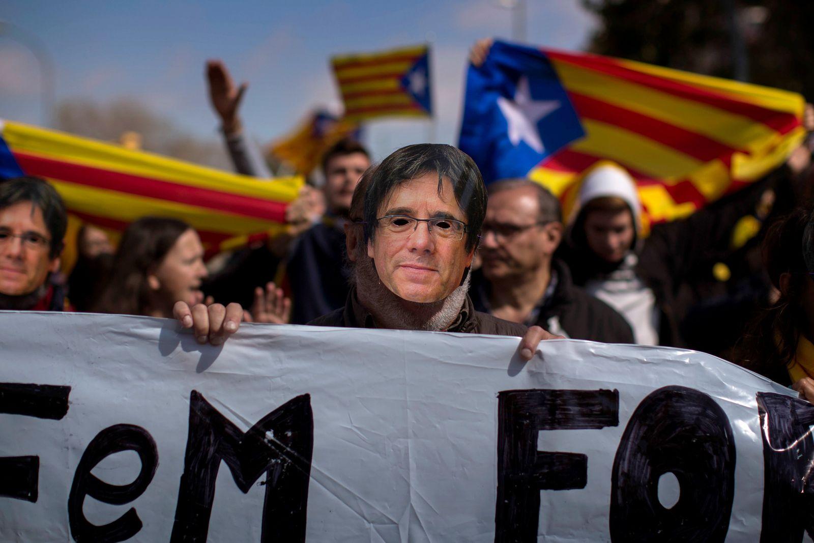 Puigdemont Lage in Katalonien