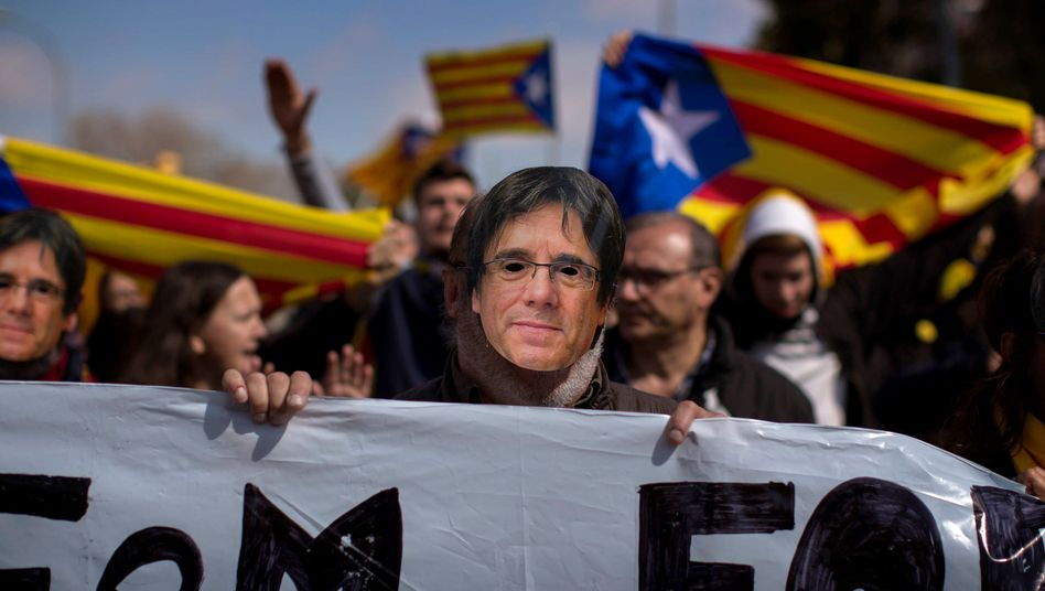 Pro-Puigdemont-Protest in Barcelona (Archiv)