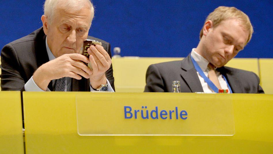 FDP-Spitzenkandidat Brüderle, NRW-Landeschef Lindner: Welcher Film läuft hier?