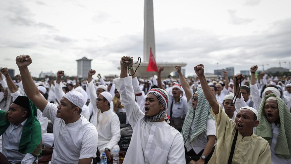 Muslimische Demonstranten