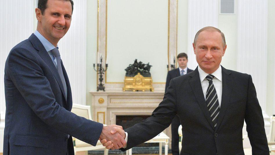 Assad bei Putin: Schurkenstaatsbesuch